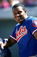 Sammy Sosa of the Chicago Cubs at HoHoKam Park in Mesa,Arizona during 1996 Spring Training. (Larry Goren/Four Seam Images)