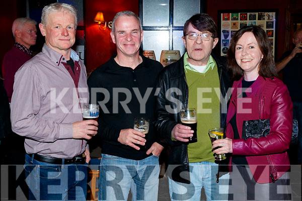 PJ Shanahan, Paul Burke, Pat Sheehan and Patricia Shanahan, enjoying the 80's/90's fundraiser disco at the Abbey Tavern, Ardfert on Saturday night last.