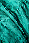Blue Silk 03 - Turquoise blue layered silk shawl.