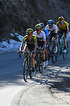 The Yates brothers Simon and Adam (GBR) Mitchelton-Scott  lead main group near the end of Stage 4 of the Volta Ciclista a Catalunya 2019 running 150.3km from Llanars (Vall De Camprodon) to La Molina (Alp), Spain. 28th March 2019.<br /> Picture: Colin Flockton | Cyclefile<br /> <br /> <br /> All photos usage must carry mandatory copyright credit (© Cyclefile | Colin Flockton)
