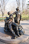 Washington DC; USA: Vietnam Women's Memorial on the Mall.  Glenna Goodacre sculpture about women who served..Photo copyright Lee Foster Photo # 8-washdc76104