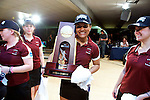14 APR 2012: Anggie Ramirez during the Division I Womens Bowling Championship held at Freeway Lanes in Wickliffe, OH.  The University of Maryland Eastern Shore defeated Fairleigh Dickinson 4-2 to win the national title.  Jason Miller/NCAA Photos