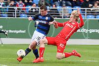 Ben Halloran (Fortuna) gegen Denis Epstein (FSV) - FSV Frankfurt vs. Fortuna Düsseldorf, Frankfurter Volksbank Stadion