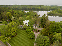historic house, Wellesley, MA aerial UAV