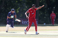 Muhammad Irfan of Hornchurch with an appeal for a wicket during Wanstead and Snaresbrook CC vs Hornchurch CC, Shepherd Neame Essex League Cricket at Overton Drive on 30th June 2018