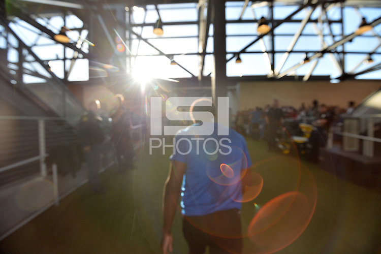 San Jose, CA - Saturday May 27, 2017: San Jose Earthquakes  prior to a Major League Soccer (MLS) match between the San Jose Earthquakes and the Los Angeles Galaxy at Avaya Stadium.