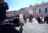 Pope Francis during of a weekly general audience at St Peter's square in Vatican. on August 24, 2016