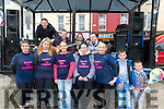 l-r  Caroline McConnell, Marian Coffey, Marlyn O'Shea, Sharleen Tidings, Julie Fitzpatrick, Padraig Daly and Bernard Daly with The Band called Rouge who are Andrew Hobbert, David O'Leary, Seamie O'Connor and Les Hughes at the  The Elements Family Fun Day in the Square on Sunday