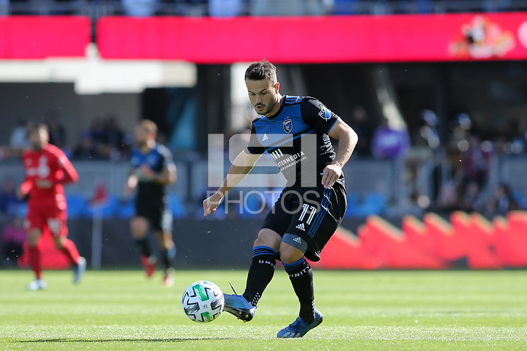 SAN JOSE, CA - FEBRUARY 29: Vako #11 of the San Jose Earthquakes during a game between Toronto FC and San Jose Earthquakes at Earthquakes Stadium on February 29, 2020 in San Jose, California.