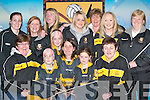 TEAM COLOURS: Supporters from the Dr Crokes Club who will be travelling to London to support their team. Front row l-r: Ann Bartlett, Leah OShea, Amy OShea, Debranne OShea, Rebecca OShea and Deirdre Cremin. Back row l-r: Noreen Cooper, Breda Cronin, Anne Byrnes, Lisa Courtney, Siobhan Courtney, Niamh OShea and Noreen OConnor. .
