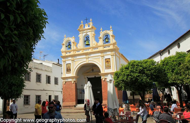 Baroque architecture of San Juan de Letran chapel, Zahara de la Sierra, Cadiz province, Spain