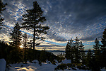 The sun sets over Lake Tahoe near Carson City, Nev., on Wednesday, Jan. 23, 2019. Photo by Cathleen Allison/Nevada Momentum