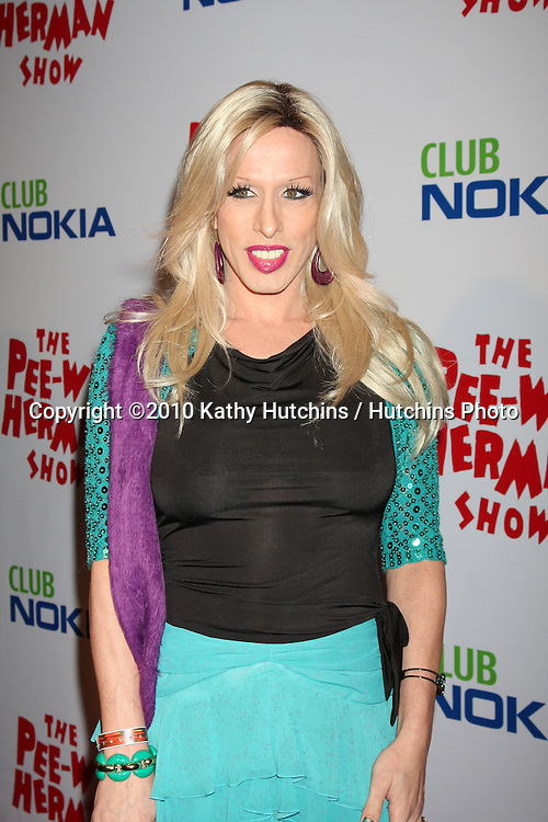 "Alexis Arquette.arriving at the ""The Pee Wee Herman Show"" Opening Night..Club Nokia.Los Angeles, CA.January 20, 2010.©2010 Kathy Hutchins / Hutchins Photo...."