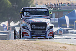 Czech driver Adam Lacko belonging Czech team Buggyra International Racing System during the super pole SP1 of the XXX Spain GP Camion of the FIA European Truck Racing Championship 2016 in Madrid. October 01, 2016. (ALTERPHOTOS/Rodrigo Jimenez)