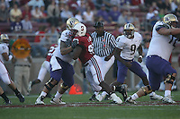 3 November 2007: Stanford Cardinal Levirt Griffin during Stanford's 27-9 loss against the Washington Huskies at Stanford Stadium in Stanford, CA.