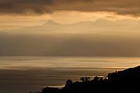 Europe/France/Rhône-Alpes/74/Haute Savoie/ Evian: Aube sur le Lac Léman depuis le Royal-Hotel