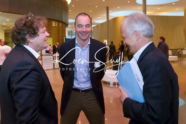 UTRECHT - Jan Bart Wilschut, Erik Cornelissen en Jan Albers.Hockeycongres bij de Rabobank in Utrecht. FOTO KOEN SUYK