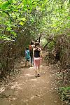 Israel, Upper Galilee. Hedi, Noi and Noam in Tel Dan Nature Reserve