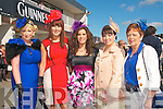 Ladies Day Listowel Races : Pictured at Ladies Day in Listowel ofn Friday last were Marina Kelly, Kilmorna, Sharon O'Connor, Templeglantine, Teresa Sexton, Athea, Kelly Anne Reidy, Croagh & Joan O'Connor, Athea.