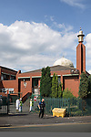 © Joel Goodman - 07973 332324 . 07/08/2013 . Manchester , UK . GV General View of the Jamia Masjid Mosque in Cheetham Hill , Manchester today (7th August 2013) as the British Prime Minister , David Cameron , visits the mosque . Photo credit : Joel Goodman