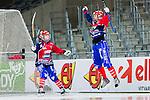 Stockholm 2015-03-13 Bandy SM-final herrar Sandvikens AIK - V&auml;ster&aring;s SK :  <br /> Karebys Camilla Johansson firar sitt 2-0 m&aring;l med Sophia Adolfsson under matchen mellan Sandvikens AIK och V&auml;ster&aring;s SK <br /> (Foto: Kenta J&ouml;nsson)<br /> Nyckelord:  SM SM-final final Bandyfinal Bandyfinalen Dam Damer Dambandy AIK Kareby IS jubel gl&auml;dje lycka glad happy