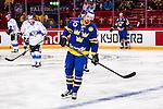 Stockholm 2014-05-03 Ishockey Oddset Hockey Games  Sverige - Finland :  <br /> Sveriges Dick Axelsson deppar<br /> (Foto: Kenta J&ouml;nsson) Nyckelord:  Oddset Hockey Games Sverige Swe Tre Kronor Finland Fin Globen Ericsson Globe Arena depp besviken besvikelse sorg ledsen deppig nedst&auml;md uppgiven sad disappointment disappointed dejected