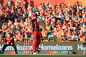 8th January 2018, The WACA, Perth, Australia; Australian Big Bash Cricket, Perth Scorchers versus Melbourne Renegades; Marcus Harris of the Melbourne Renegades fends of a Mitchell Johnson short ball
