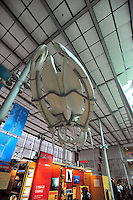 Dec. 30, 2009 - San Francisco, California, USA - A giant whale skeleton hangs inside at the California California Academy of Sciences Natural History Museum in San Francisco Wednesday December 30, 2009. (Photo by Alan Greth)
