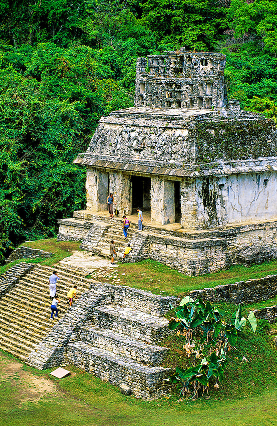 Palenque archaeological site (Mayan ruins), Chiapas, Mexico