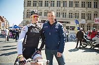 Jasper Stuyven (BEL/Trek Factory Racing) and classics legend Johan Museeuw (BEL)<br /> <br /> Brabantse Pijl 2014