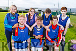 Causeway Comprehensive tag rugby team at the KETB Schools Senior Cycle Tag Rugby blitz in the Kerry Sports and Leisure Centre, Tralee on Monday.Kneeling l-r, Daniel Mahoney, Dylan Moriarty and Jack Thornton,<br /> Back l-r, Cora Fitzgerald, Sarah Kennelly, Kyle and Leon O&rsquo;Connor.