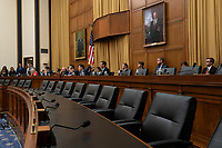 Jon Stewart criticized the empty chairs in the hearing room during a hearing on the 9-11 Victims fund on Capitol Hill in Washington D.C. on June 11, 2019, but received backlash from members of Congress who argued they were empty due to it being a subcomittee.<br /> <br /> Credit: Stefani Reynolds / CNP/AdMedia