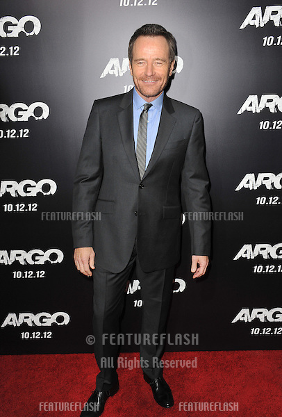 "Bryan Cranston at the Los Angeles premiere of his movie ""Argo"" at the Samuel Goldwyn Theatre, Beverly Hills..October 4, 2012  Beverly Hills, CA.Picture: Paul Smith / Featureflash"