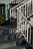 Stairway at a condo on Gulf of Mexico beach.  Indian Shores Tampa Bay Area Florida USA