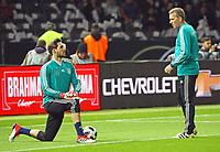Kevin Trapp (Deutschland Germany) mit Torwarttrainer Andreas Koepke (Deutschland Germany) - 27.03.2018: Deutschland vs. Brasilien, Olympiastadion Berlin
