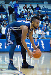February 15, 2017:  Nevada guard, D.J. Fenner #15, waits for a play to develop during the NCAA basketball game between the University of Nevada Wolfpack and the Air Force Academy Falcons, Clune Arena, U.S. Air Force Academy, Colorado Springs, Colorado.  Nevada defeats Air Force 78-59.