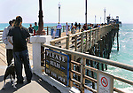 The scene along the Oceanside Pier, on visit to Oceanside, CA, on Wednesday, April 27, 2016. Photo by Jim Peppler. Copyright Jim Peppler  2016.
