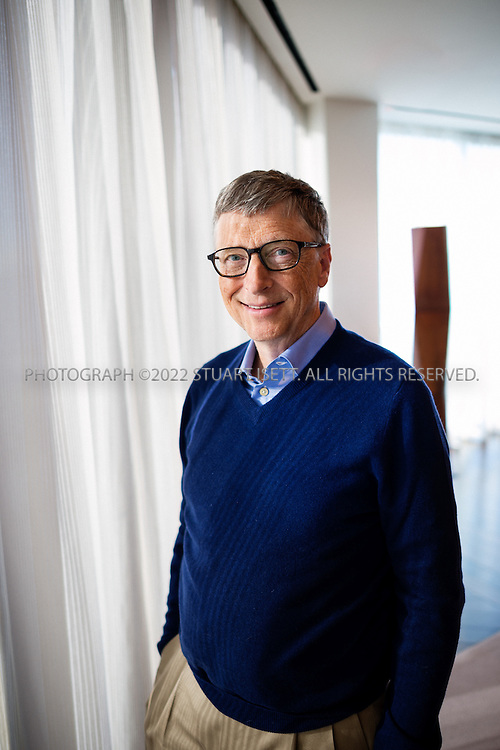 1/14/2014- Kirkland, WA, USA<br /> <br /> Bill Gates, posing in his private office in Kirkland, WA. Gate is a Technology Advisor of Microsoft and Co-Chair of the Bill &amp; Melinda Gates Foundation<br /> <br /> <br /> <br /> Photograph by Stuart Isett<br /> &copy;2014 Stuart Isett. All rights reserved.