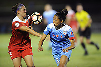 Boyds, MD - Saturday August 26, 2017: Whitney Church, Christen Press during a regular season National Women's Soccer League (NWSL) match between the Washington Spirit and the Chicago Red Stars at Maureen Hendricks Field, Maryland SoccerPlex.