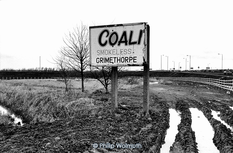 Site of the Coalite smokeless fuel processing plant in Grimethorpe, South Yorkshire, demolished following the closure of the local colliery.