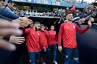 Cary, N.C. - Tuesday March 27, 2018: Cameron Carter-Vickers, Matt Miazga, USMNT during an International friendly game between the men's national teams of the United States (USA) and Paraguay (PAR) at Sahlen's Stadium at WakeMed Soccer Park.
