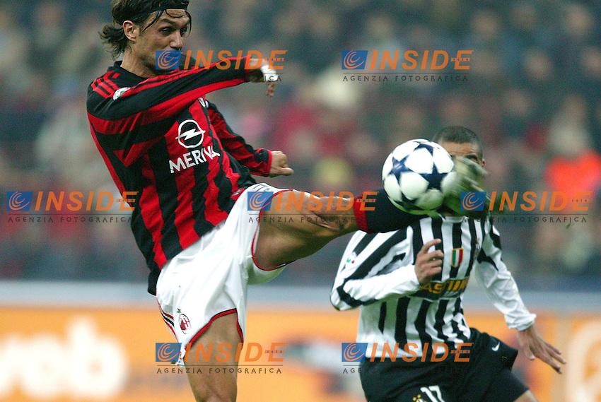Milano 1/11/2003 <br /> Milan Juventus 1-1<br /> Paolo Maldini (Milan)<br /> Foto Baroncini/Insidefoto