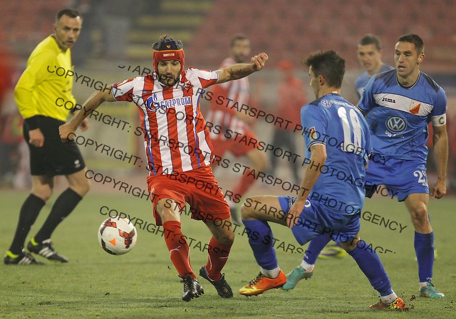 Fudbal Kup Srbije season 2013-2014<br /> Crvena Zvezda v Vojvodina<br /> Milos Ninkovic (L) and Marko Poletanovic (R)<br /> Beograd, 04.12.2013.<br /> foto: Srdjan Stevanovic/Starsportphoto &copy;