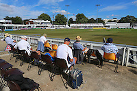 Spectators look on as the start of play on day one is delayed by traffic problems on the A12 during Essex CCC vs Glamorgan CCC, Specsavers County Championship Division 2 Cricket at the Essex County Ground on 12th September 2016