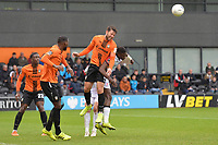 Callum Reynolds of Barnet heads clear during Barnet vs Woking, Vanarama National League Football at the Hive Stadium on 12th October 2019