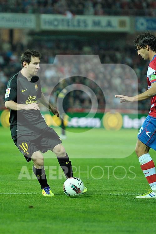 GRANADA, Spain (25/10/011).- Liga española de fútbol, primera división. Liga BBVA, Spanish League Soccer. Granada vs FC Barcelona (0-1)...© Raul Perez / ALFAQUI