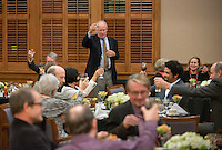 The Huntington Library, Art Collections, and Botanical Gardens President Steven Koblik. The Occidental College History Department hosts a dinner for the Ray Allen Billington Visiting Professorship in United States History, which Oxy co-founded with the Huntington Library, November 17, 2014 in Dumke Commons, Swan Hall. (Photo by Marc Campos, Occidental College Photographer)