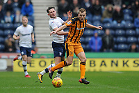 Alan Browne of Preston North End vies for the ball with Sebastian Larsson of Hull City during Preston North End vs Hull City, Sky Bet EFL Championship Football at Deepdale on 3rd February 2018