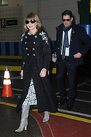www.acepixs.com<br /> February 17, 2017 New York City<br /> <br /> Anna Wintour and J. Shelby Bryan seen at the Yeezy Fashion Show Season 5 on February 17, 2017 in New York City.<br /> <br /> Credit: Kristin Callahan/ACE Pictures<br /> <br /> <br /> Tel: 646 769 0430<br /> e-mail: info@acepixs.com