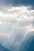 Switzerland, Canton Valais, clouds and sun rays | Schweiz, Kanton Wallis, Wolken und Lichtstimmung